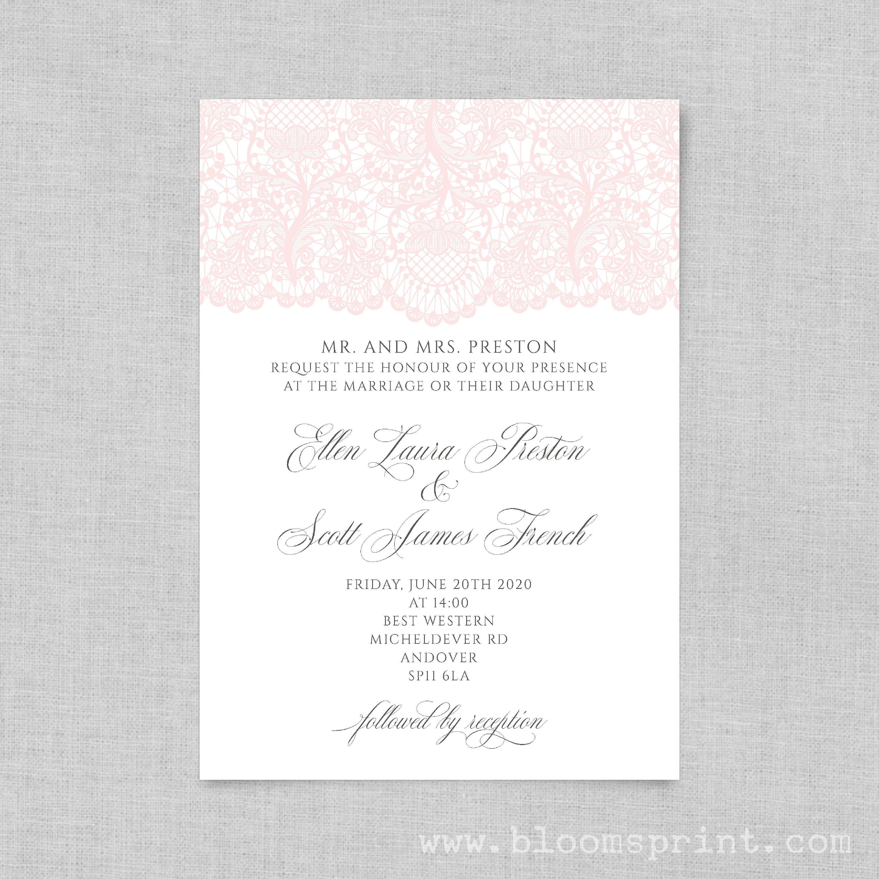 Wedding invitation printable, Simple wedding invitation, Wedding ...