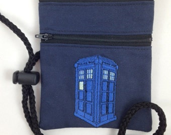 Awesome Tardis convention lanyard/bag is perfect for your next convention!