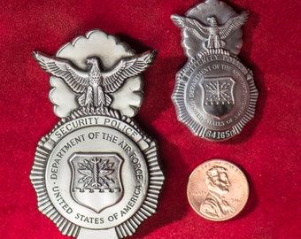 Vintage USAF Security Police Badges from the 1960's