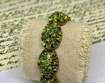 Beautiful Selini Green Rhinestone Bracelet