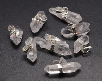 Natural Crystal Quartz Nuggets Pendants (2 Pack)