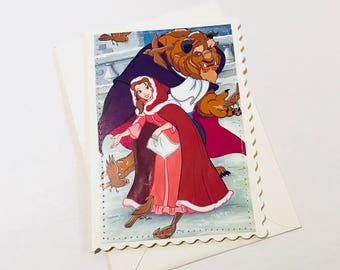 Beauty and the Beast - Disney Greeting Card and Envelope - Blank