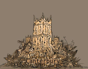 Canterbury Cathedral Postcard