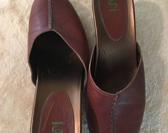 Women's G Series Cole Haan Brown Leather Mules Clogs- Size 8