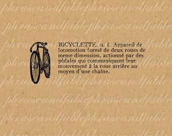 Bicyclette 177 Bicycle Bike Gears Vehicle Transportation Freedom Cycle Velo Road Vintage Digital