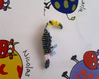 Bird seed beads.
