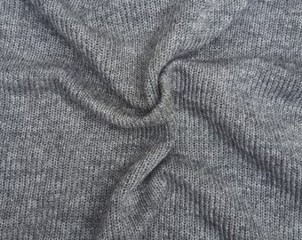 "Wool Sweater Knit Fabric by Yard - Gray #2 50""W 7/15"