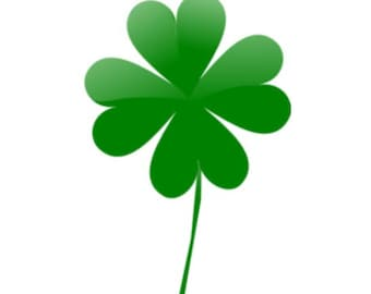 Four Leaf Clover Temporary Tattoo - St Patricks Day - Luck of the Irish - Shamrock Tattoo - Kelly Green Shamrock