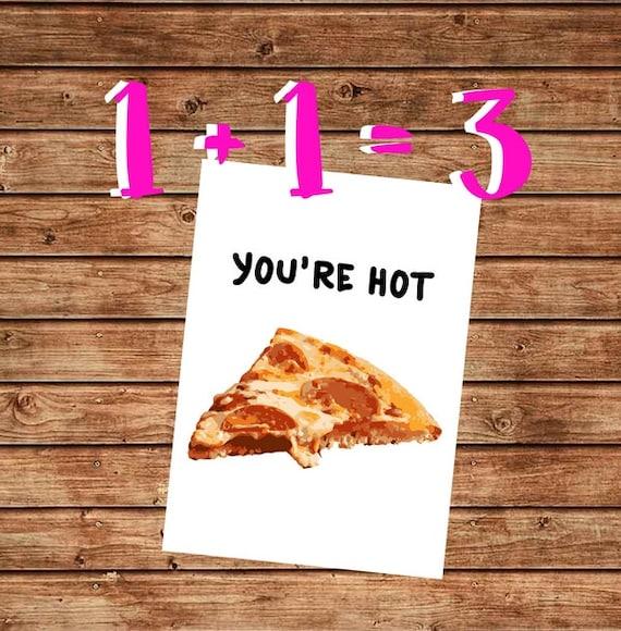 Druckbare heißen Valentines lustige Geburtstag Karte lustig