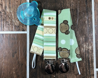 Baby Binky Clips, Universal Pacifier Clips, Teething Toy Clips, Dummy Clips, Pacifier Holder, Teething Clip Holder, Baby Gifts, Set of 2