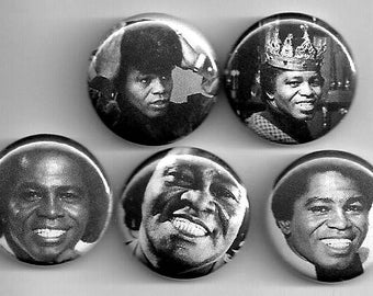 James Brown godfather of soul and funk buttons !