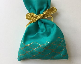 MERMAID  favour bags. Under the sea, little mermaid, MERMAID PARTY x 10
