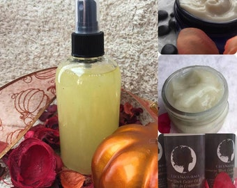 Natural Hair Care Bundle| Curly Hair Care| Moisturizing Hair Products| All Natural Conditioner|Natural Gel| Natural detangler