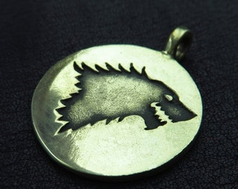 Bronze House Stark pendant