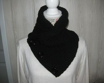 snood scarf/neck circumference mixed wool