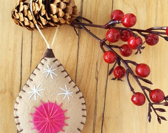 Breast cancer support gift, Just the nip! One latte-hued mastectomy ornament, for your tree's pleasure. {ships in 2-6 days}