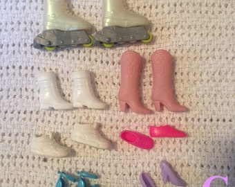 Barbie shoes (various) pre-owned