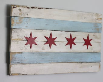 Extra Rustic Chicago Flag