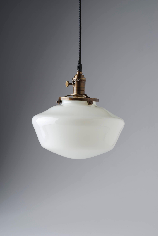 10 white milk glass globe schoolhouse pendant light zoom arubaitofo Gallery