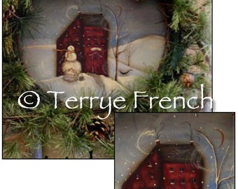 Wintry Welcome Wreath, email pattern packet, Terrye French