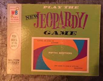 Vintage Milton Bradley Jeopardy Game Fifth Edition