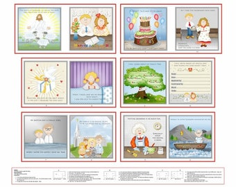 """Promises Fabric Book fromm Henry Glass by Dana Brooks - Story of Baptism - Panel is 36""""x44"""""""