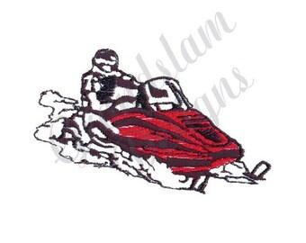Snowmobile - Machine Embroidery Design