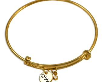 Phi Sigma Sigma Sorority Bracelet / Sorority Bangle / Phi Sig Bangle / Sorority Jewelry / Phi Sigma Sigma Jewelry / Phi Sigma Sigma Gift