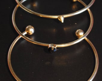 DesignSix Casted Ball Ends Bangles -Set of three