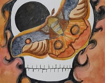 Moth Face Original Art