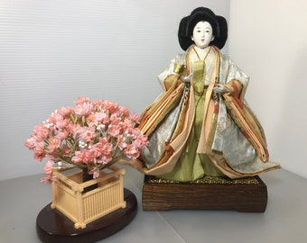 Vintage Japanese Doll Hina Doll large size doll kimono doll Antique kimono doll unique Japanese doll handmade Doll made in japan 1970s(#355)