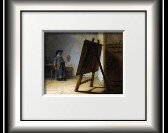 Rembrandt Artitst in His Studio FINE ART PRINT from 1629