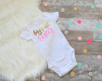 My First Easter girls Easter Outfit Easter Dress Easter Shirt Baby Girl Easter Outfit 1st Easter Outfit Baby Girl