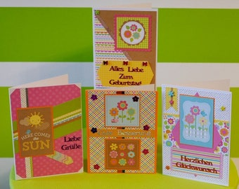 """Handmade Greeting Cards - Spring - handcrafted unique pieces for lovers of summer and sunshine - Doodlebug Design""""Hello Sunshine"""""""