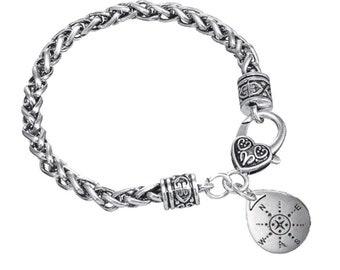 Compass Charm Inspirational Bracelets