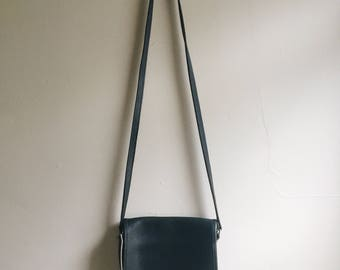 Vintage 1970s black crossbody COACH purse   adjustable strap   black COACH bag   Able Shoppe   coach handbag   coach purse