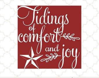 SVG Tidings of Comfort and Joy / svg good tidings /  glass block design / christmas block design /  tidings of comfort and joy eps