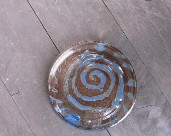 Blue Spiral Plate