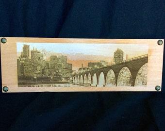 Engraved Minneapolis Skyline