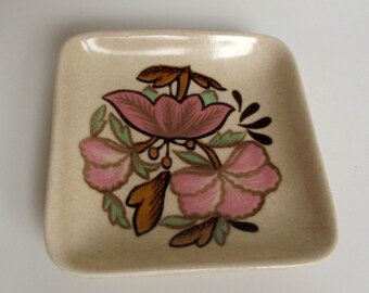 Royal Worcester Lotus Blossom Small Square Pin Dish - two available
