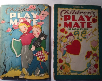 Children's Playmate Magazine For Boys and Girls 4 to 14  1940's