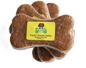 Set of 8 Delightfully Daisy Poppin' Peanut Butter Single Bone Dog Treats