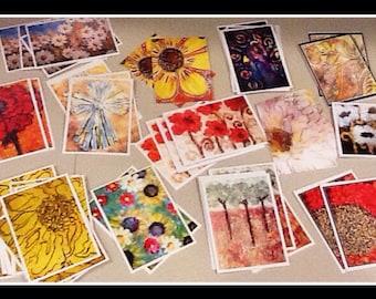 Set of ten notecards
