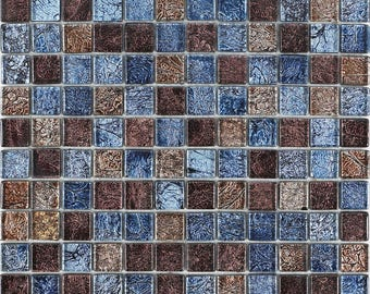Glass Mosaic Tiles Blacksplash Multi-color Crystal Mosaic Random Patterns Bathroom Wall Decor Cheap Floor Tiles