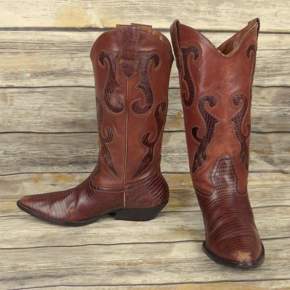Western Cowgirl Brown Cowboy Size M Leather 7 Womens West Nine Boots 5 Fashion OvqnfxApgw