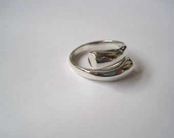 Sterling silver thumb ring-adjustable-free shipping