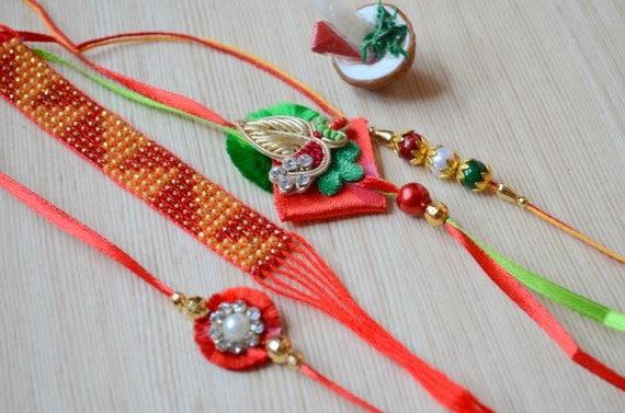 6 x Rakhi Threads Rakhi Bracelets Raksha Bandhan Rakhi 8SH2B