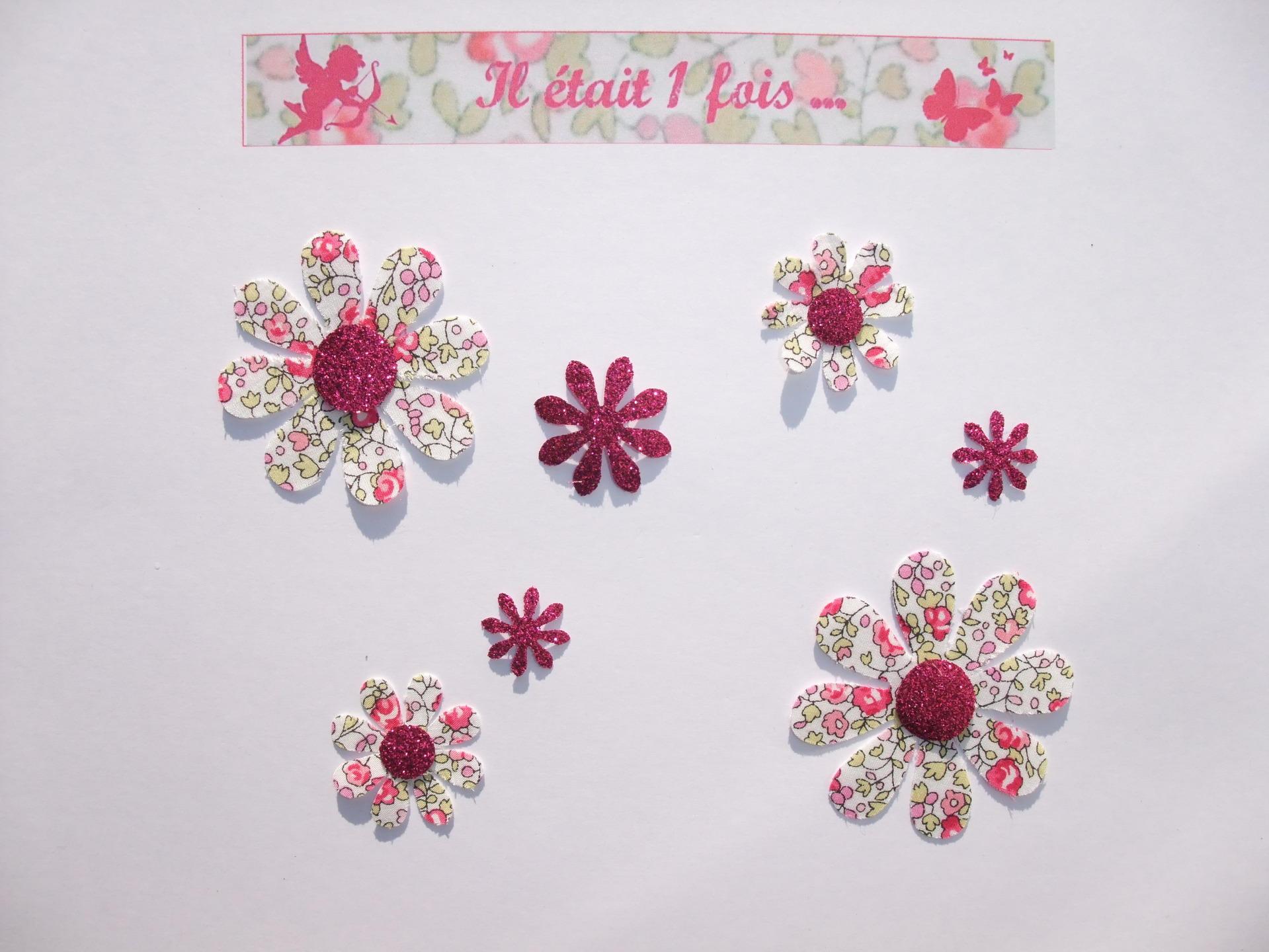 Applied 7 Seconds Flowers Liberty Eloise Pink Flex Glitter Patch