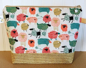 Sheep Crochet / Knitting Bag - Medium Size