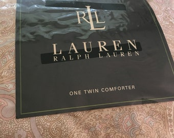 Ralph Lauren Twin Size Comforter  ~ Pastel  Paisley Print ~ Beautiful Bedding  ~ Fine Luxury Bedding ~ Beiges, Pink and Pale Blue
